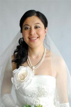 Lovely Bridal look with grey shadow on eyes & a light pink Lippy.  www.sharynbutters.co.nz Wedding Dress 2013, Wedding 2015, Wedding Dress Shopping, One Shoulder Wedding Dress, Wedding Dresses, Wedding Ideas, Hair And Makeup Artist, Hair Makeup, Wedding Veils