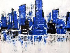 An overview of paintings sold of contemporary fine artist Marie Vaughn to national and international collectors. Contemporary, Modern, New York Skyline, Abstract, Gallery, Wall, Artwork, Artist, Painting