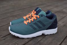 new products 6ac24 81a09 Adidas ZX Flux Weave wonder mint midnight navy glow orange Latest Sneakers,  Vans