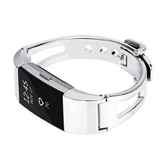Amazon.com : For fitbit charge 2 Bands, TreasureMax Stainless Steel Replacement Accessory Bracelet band, Large, Small, Metal Bands for Fitbit Charge 2/charge 2 bands/fitbit charge 2 bands(No Tracker) : Sports & Outdoors