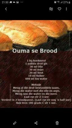 South African Recipes, Bread Recipes, Recipe Ideas, Parties, Traditional, Baking, Fiestas, Bakken, Backen