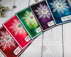 Snowflake Showcase – Snowflake card with galaxy style background Homemade Christmas Cards, Stampin Up Christmas, Christmas Cards To Make, Xmas Cards, Homemade Cards, Holiday Cards, Snowflake Cards, Christmas Snowflakes, Stamping Up Cards