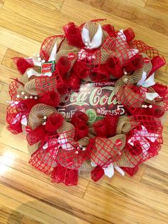 Coca cola wreath