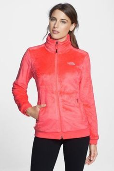 WOMEN'S LARGE THE NORTH FACE OSITO FULL ZIP FUZZY SILKEN FLEECE ...