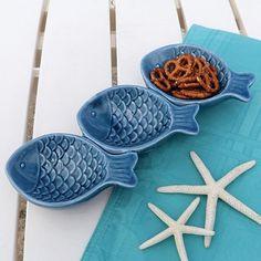 Porcelain Fish Snack Server