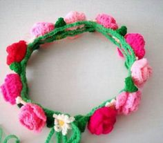Ravelry: Crocheted Flower Crown pattern by Crocket Crochet