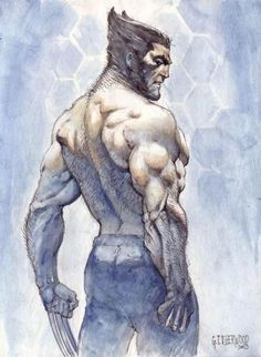 Wolverine, in the March Logan Comic Art Sketchbook Comic Book Artists, Comic Book Characters, Marvel Characters, Comic Character, Comic Books Art, Comic Art, Hq Marvel, Marvel Comics Art, Marvel Heroes