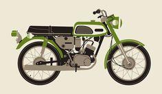 MOTO verte de 1970