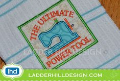 Sewing Machine Applique The Ultimate Power by ladderhilldesign