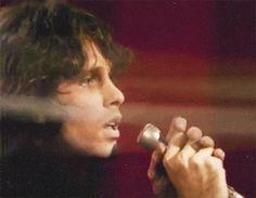 "♫ Come on baby, light my fire ♫. Jim performing on ""The Jonathan Winters Show"", 1967. Jim Morrison GIF. James Douglas ""Jim"" Morrison [Dec 8, 1943 ― July 3, 1971] ♡ The Doors. #JimMorrison #GIF #Paris #Quotes"