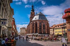 Heidelberg Germany - Church of the Holy Spirit in town square | Flickr - Photo Sharing!