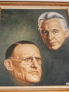 Beautiful painting of Dr. Bob and Bill W. co-founders of AA.   www.serenityvista.com