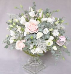 bouquet with ruscus, seeded eucalyptus, and baby blue eucalyptus - Google Search