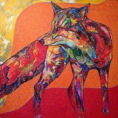 Native American Fox Artwork | Mac Coyote Ute Mountain Ute Paintings