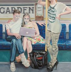 Ewing Paddock began a personal project of making paintings of people in the London Underground. Painting people is what interests Paddock most. Painting People, Figure Painting, Anime Comics, Illustrations, Illustration Art, London Painting, A Level Art, London Underground, Adam And Eve