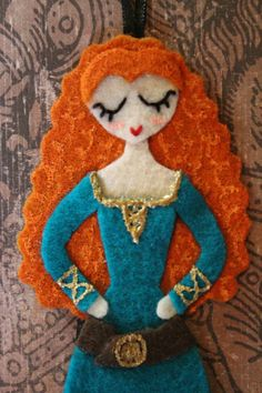 Merida from Disney/Pixar's Brave Ornament by BellesoftheBluegrass