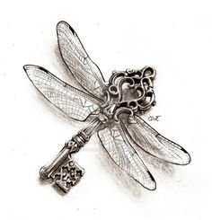 Key of the Dragonfly (Tattoo) by CassandraReitzig