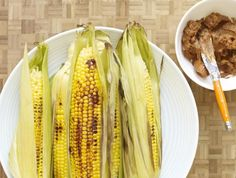Grilled Corn on the Cob with Ancho Chili Butter.