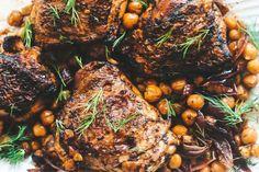 Chickpea Recipes, Veggie Recipes, Appetizer Recipes, Appetizers, Chicken Chickpea, Herb Roasted Chicken, Jamaican Pepper Steak Recipe, Zaatar Recipe, Canned Chickpeas