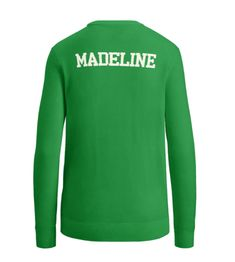 MADELINE Ralph Lauren Custom Crewneck Sweater - Stem Green 105adfebf7ba5