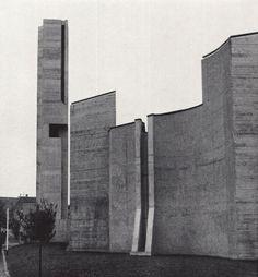 "germanpostwarmodern: "" Community Center Sonnenberg in Stuttgart, Germany, by Ernst Gisel "" Architecture Design, Concrete, Community, Places, Stuttgart Germany, Twitter, Panda, Cactus, Shape"