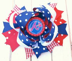 Check out this item in my Etsy shop https://www.etsy.com/listing/277938788/atlanta-braves-bow-atlanta-braves-hair