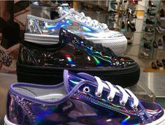 Shoes: converse, sneakers, vans, platform shoes, flatform, platform shoes, flatforms, holographic, holographic, shiny, rainbow, multicolor, holo, holographic shoes              - Wheretoget