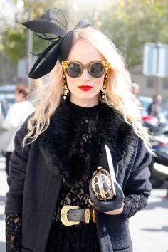 Bold lip, bold accessories #streetstyle