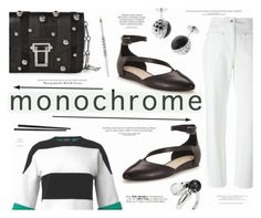 """""""Make It Monochrome"""" by katarina-blagojevic ❤ liked on Polyvore featuring Courrèges, Derek Lam, Proenza Schouler, Clarks, Hemingway, Carrera y Carrera, Noir Jewelry, Lord & Berry, France Luxe and monochrome"""
