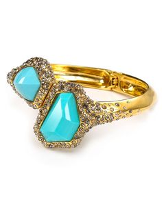 Alexis Bittar Bracelets   Alexis Bittar Bracelets - ALEXIS BITTAR - Gold Crystal Encrusted Gold ...