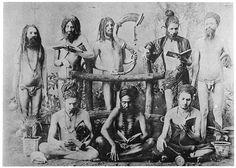 DRAVIDIAN YOGI ASCETICS WITH DREADLOCKS ;(like Rasta in Jamaica) CENTRAL INDIA