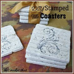 This Makes That: DIY Stamped Tile Coasters Make Great Gifts