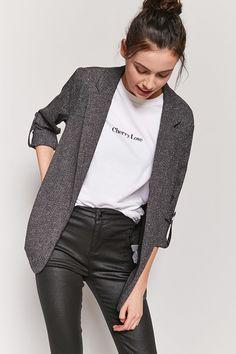 Product Name:Blazer moucheté sans fermeture, Category:outerwear_coats-and-jackets, Price:28