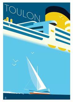 Le port de Toulon ~ Monsieur Z   Artwork by Richard Zielenkiewicz