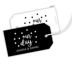 Our Day Confetti Hanging Gift Tags