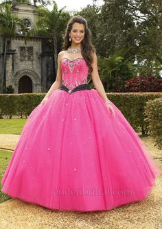 hot pink brides maid dresses for girls | ... pink, then this hot pink wedding dress with sparkling rhinestones and