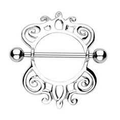 Royal Majestic Nipple Shield Ring, 19mm Barbell