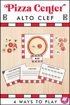 Your first-year viola students will love this orchestra centers game for learning the notes on the alto clef staff. Students love the pizza theme and different ways to play. Just print, cut, and laminate to use it year after year! They make excellent sub plans and activities for studios. It's a great one to use year after year in your centers rotations. #sillyomusic Fun Music, Music Class, Music Games, Music Education, Elementary Music, Upper Elementary, Teaching Orchestra, Center Rotations, Middle School Music