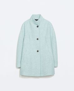 Image 8 of WOOL COAT WITH FUNNEL COLLAR from Zara