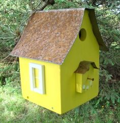 Birdhouse Industrial Chic Beach Cottage Lemon by baconsquarefarm