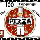 Free 100 Topping Pizza Printables including graph and an answer key.  This is great math activity for 100th  day of school, pizza parties, or motiv...