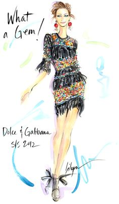Read Discover, the new Dolce & Gabbana Luxury Magazine Online. Fashion Sketches, Fashion Illustrations, Fashion Drawings, Illustration Fashion, Fashion Artwork, All Fashion, Women Wear, My Style, How To Wear