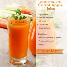 Apple and Carrot Smoothie Detox Juice Cleanse, Healthy Juice Recipes, Healthy Juices, Liver Cleanse, Fruit Smoothies, Healthy Smoothies, Healthy Drinks, Smoothie Drinks, Healthy Eating