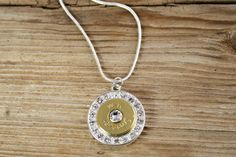 Fire & Ice Silver and Gold Bullet Necklace by BulletDesigns, $19.95
