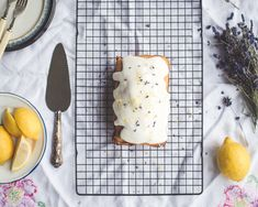 My two favorite flavors combined! Lemon and lavender are so fresh and so soothing. The flavor palette is something I just can't get enough of. Adding it to with the buttery dense moist cake like pound cake and I'm truly in heaven! You have to make this cake. It will change your life. This cake is so luscious and out of the ordinary! It's not your every day cake. It's perfect for a gift or for a perfectly lovely Easter brunch. I think it would be so lovely at a picnic or a tea ...