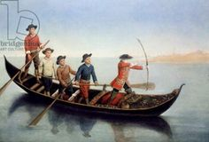 Hunting wild duck with bows and arrows (oil on canvas), Pietro Longhi, (c.1701-85)