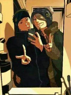 Zoro and Sanji #selfie #onepiece #pirateslife                              …