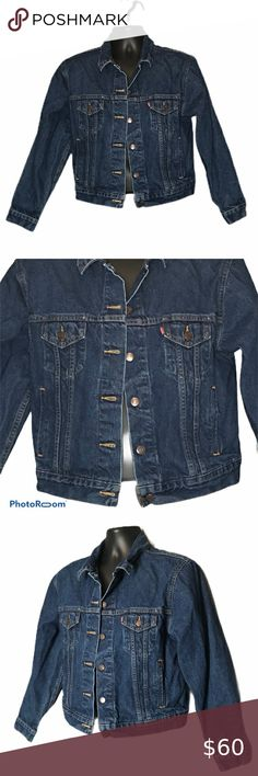 Women's Levi Denim Iconic Jacket Type 1 Red Tab S