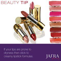 Tip de Belleza: Si tus labios son propensos a secarse, usa sólo labiales cuyas fórmulas sean cremosas. #JAFRA
