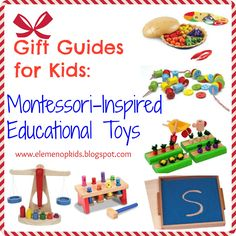 √     Gift Guide for Kids: Montessori-Inspired Toys